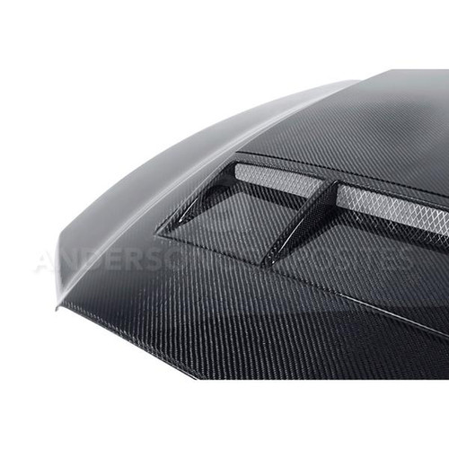 Anderson Composites 2010 - 2014 Shelby GT500 & 2013 - 2014 Mustang Carbon Fiber Ram Air Cowl Hood