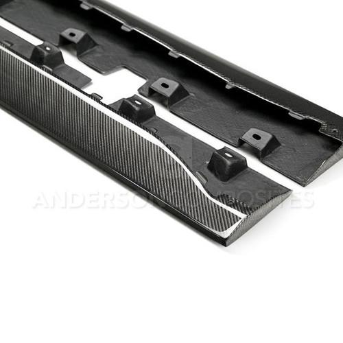 Anderson Composites 2015 - 2019 Mustang Carbon Fiber Type-AR Side Rocker Panel Splitters (Pair)