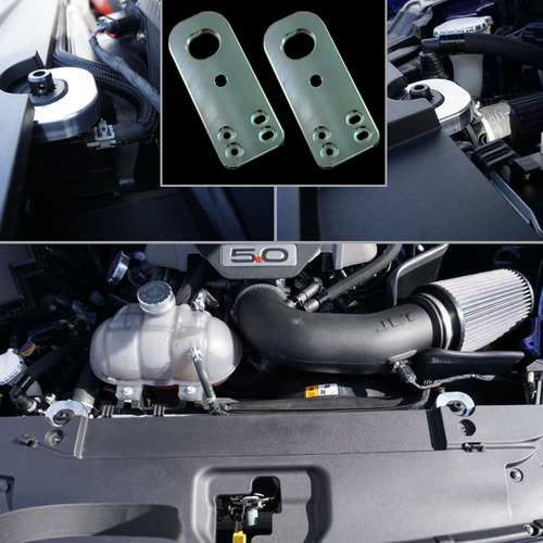 UPR 2015-2017 Mustang Billet Radiator Hold Down Kit (Satin)