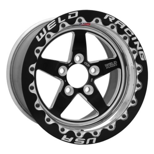 Weld 15x10 S71 Beadlock Wheel (Black) - 2005-2014 Mustang (WELD-71MB510A75F)