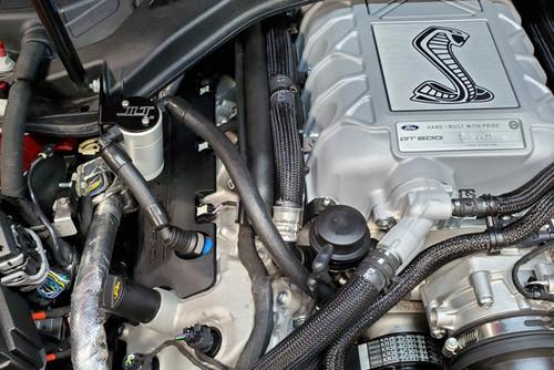 2020 GT500 JLT Clear Anodized Oil Separator - Passenger Side