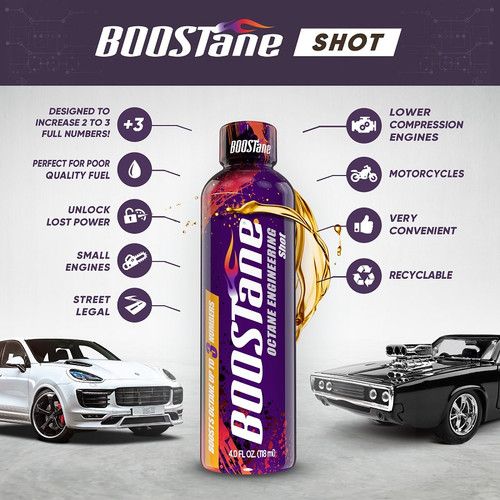 BOOSTane Shot Octane Booster (100 pack of 4oz) - Product Specs