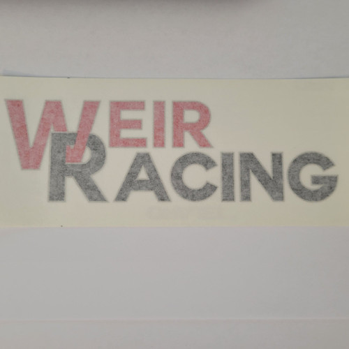 Weir Racing Decal (Red & Black)
