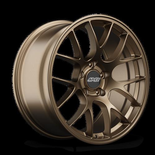 """APEX 18x9.5"""" ET35 Satin Bronze EC-7 Mustang Wheel"""