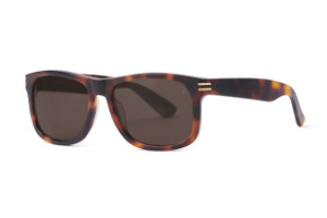 Matte tortoise with gold accents. Polarized brown lens.