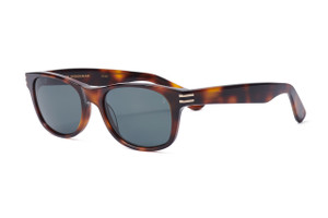 Gloss tortoise with gold accents. Polarized gray lens.