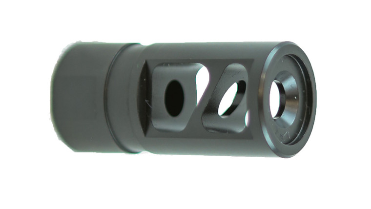 New to the Franklin Armory® line of muzzle devices, is the AURA™ compensator  and brake!  Designed for the 5.56 NATO - This salt bath nitrided, machined 416 steel comp will undoubtedly give you the unfair advantage over in the competition in your next USPSA, 3 Gun, or Tactical Shooting match!