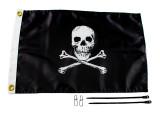 """YakAttack Jolly Roger Flag Kit 12"""" X 18"""""""