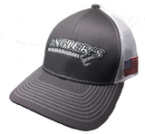 Angler's Pro Tackle & Outdoors White/Grey Cap