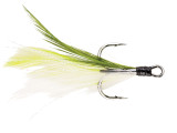 Berkley Fusion19 Feathered Treble Hooks Chartreuse/White
