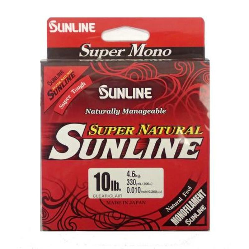 Sunline Super Natural Monofilament 330yd Clear