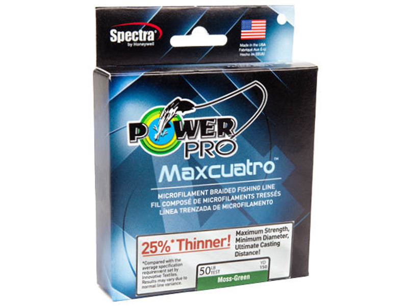 Power Pro Maxcuatro Spectra Braided Line Moss Green