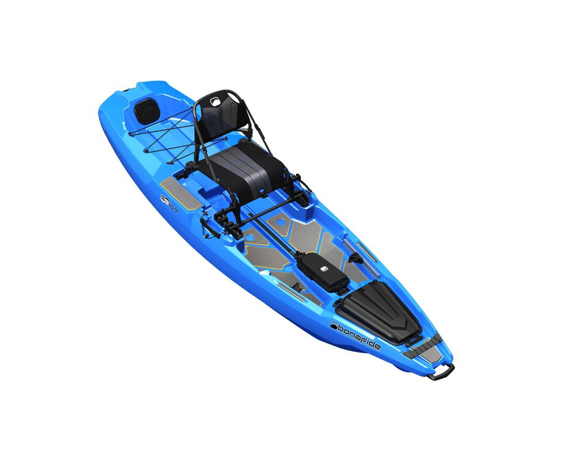 Bonafide SS107 Sit on Top Fishing Kayak Cool Hand Blue