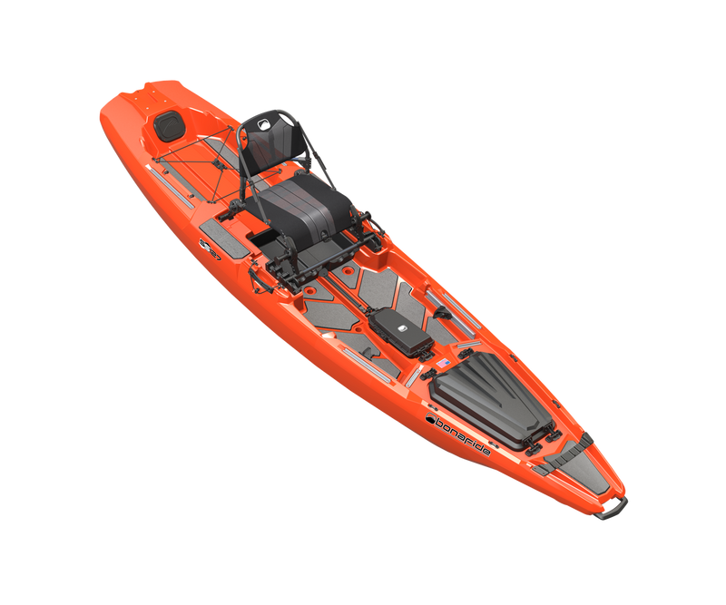 Bonafide SS127 Sit on Top Fishing Kayak Hondo Orange
