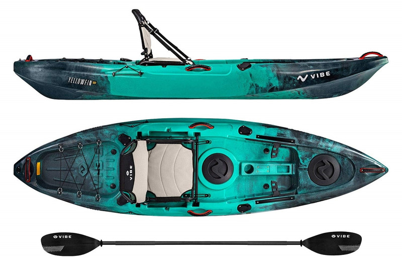 Vibe Yellowfin 100 Kayak Package Caribbean Blue