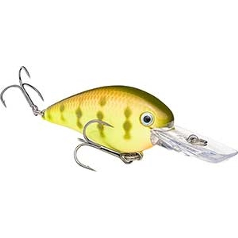 Strike King KVD 1.5 Deep Diver Square Bill Pro-Model Crankbaits Chartreuse Perch