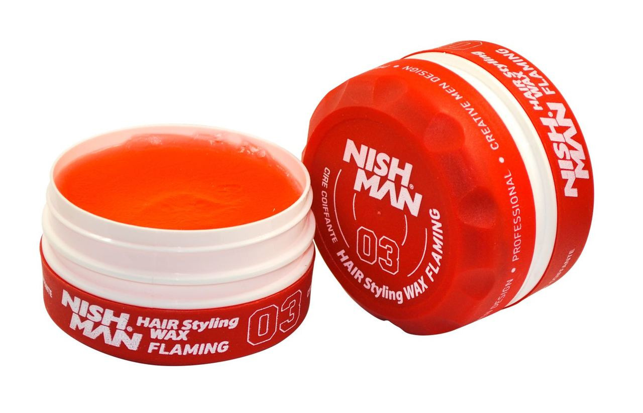 Nishman Hair Styling Cherry Red Wax 03