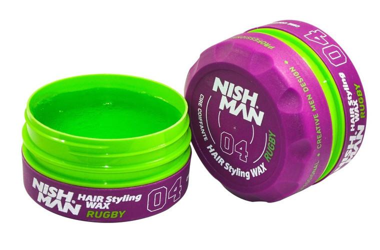 Nishman Hair Stying Rugby Purple Wax 04 150ml