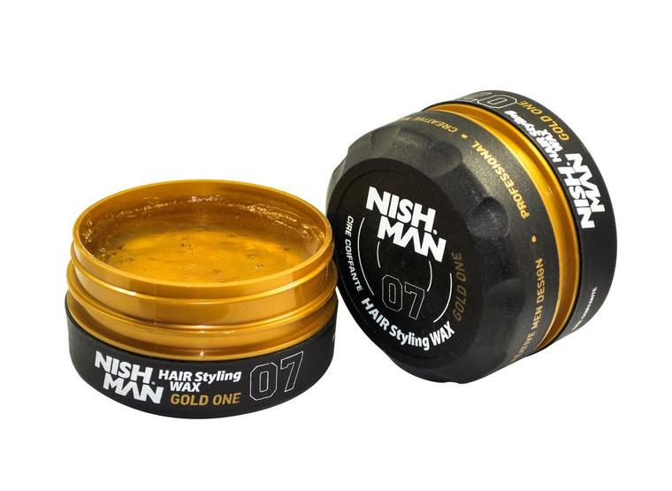 Nishman Hair Styling Gold Wax 07