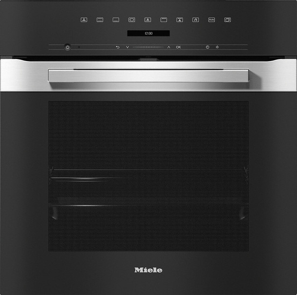 Rawsons Appliances Bathrooms - Miele H 7260 BP PureLine CleanSteel Single Oven