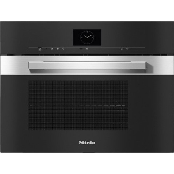 Rawsons Appliances Bathrooms - Miele DGM 7640 PureLine CleanSteel Steam Oven with Microwave