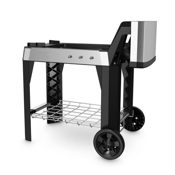 Weber 6539 Pulse Cart - side table folded down
