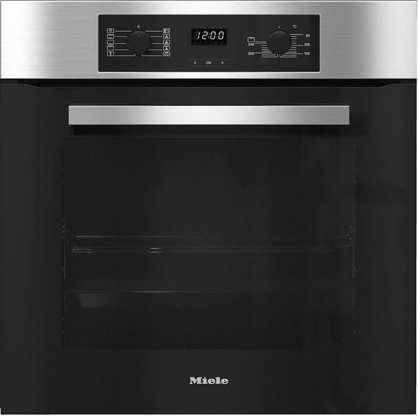 Rawsons Appliances Bathrooms - Miele H 2267-1 B PureLine CleanSteel Single Oven