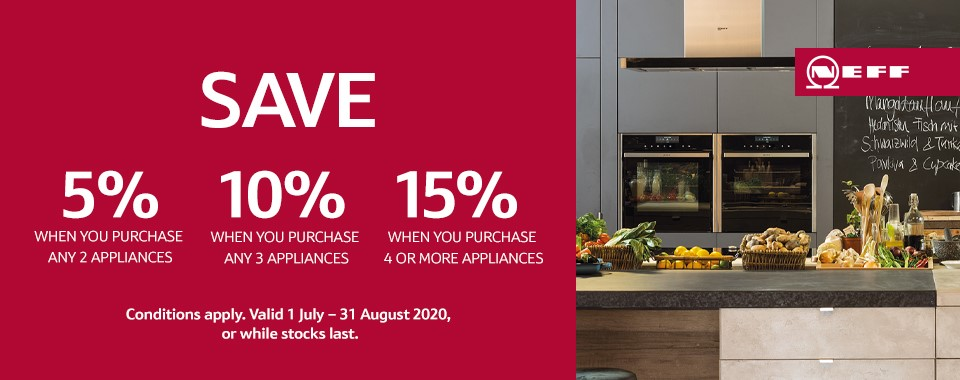 Rawsons Appliances Bathrooms - Neff Save Up To 15% Promotion - Expires 31 August 2020