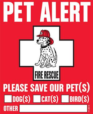 Pet Alert Vinyl Decal