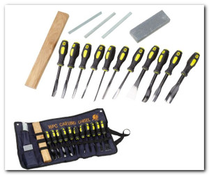 16 Piece PROFESSIONAL Wood Carving set 7716WC