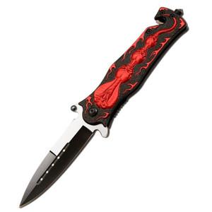 SALE AO Cobra & Skull Rescue Knife SP678-45RD