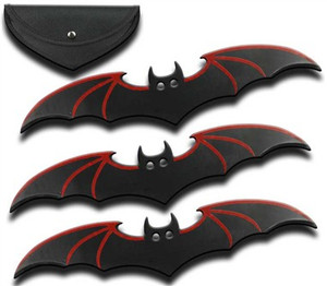 3pc Set 6 in Black & Red Bat Throwers MB4576RD