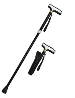 SALE 36 in Black Folding / Adjustable Alumminum Walking Cane WS2110BK