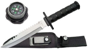 SALE 12in Military Survival Knife 210681BK