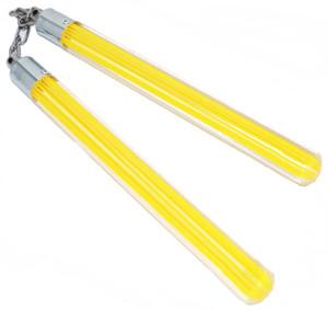 SALE Nunchaku Clear Acrylic w/ Yellow CLD077