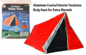 82 x 36 Aluminum Coated Interior Emergency Tube Tent ET3683