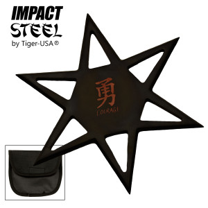 SALE EXTRA LARGE 6 Point Black Throwing Star & Case RM546BK