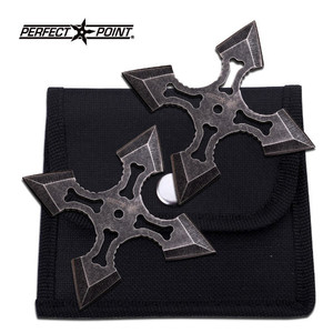 2 pc 4 Point Stone Wash Throwing Stars 90-38-2
