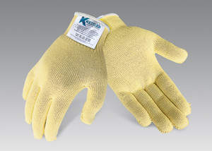Cut Resistant Gloves Contains DuPont (TM) Kevlar(R) and Glass (Cut Level 3) Kezzled GVCUT03YELLOW