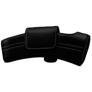 Taser Bolt/C2 Black Leather Case with white stitching. 39027