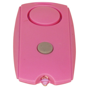 Mini Personal Alarm with Keychain, LED flashlight, and Belt Clip PAL-120-PINK