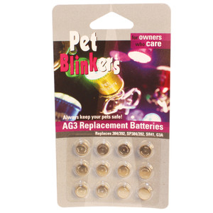 12 pack Pet Blinker Replacement Batteries PETAG-3