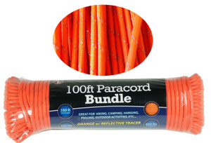 Paracord 100 ft / Reflective Tracer PC103OR55