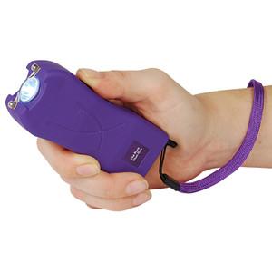 Rechargeable Runt 20,000,000 voltstun gun withflashlight and wrist strap disable pin Purple RUNT-PURPLE