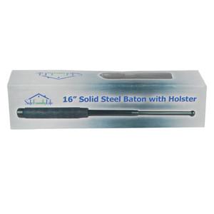 16 inch Rubber Handle Steel Baton TSB-16R