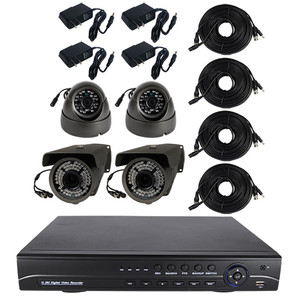 High Definition 4 Channel Surveillance System with 2TB Hard Drive CS-42TB-AHD