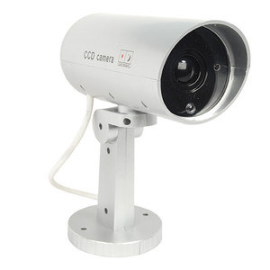 Indoor or outdoor motion activated dummy camera with flashing red LED light. DM-MOTION