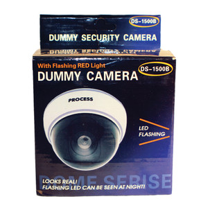 DUMMY DOME CAMERA WITH LED AND WHITE BODY DM-WHTCM