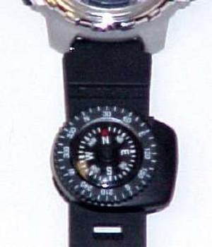 Wrist Watch Band Clip On Compass CCV18