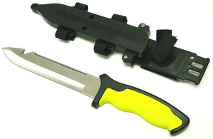 SALE SCUBA Knife YELLOW HK2287